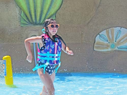Mollie Mae enjoyed the water park!