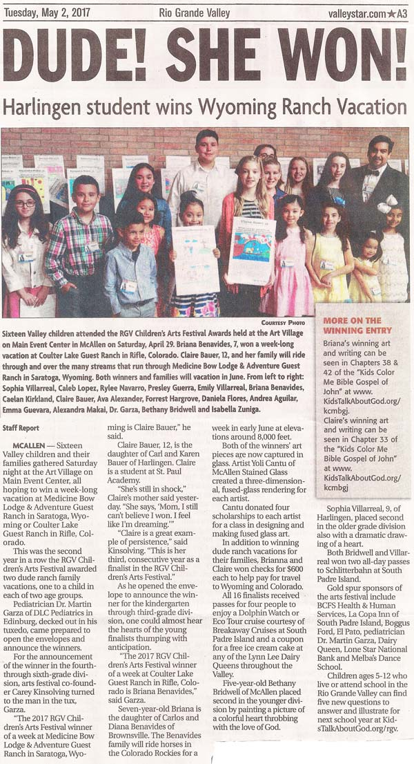 ARTICLE: Valley Morning Star