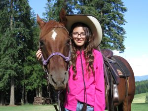 Sophia at Western Pleasure Guest Ranch in Idaho