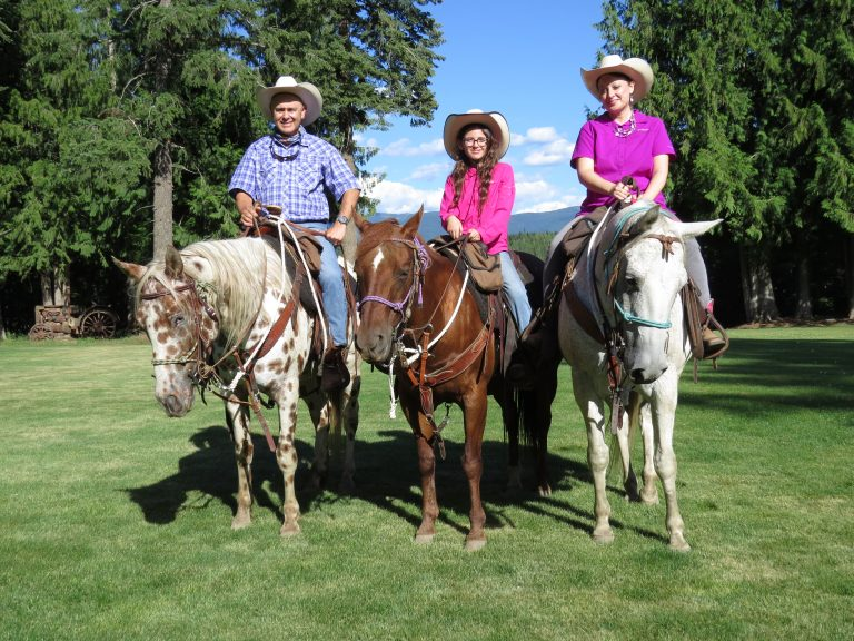 The whole family enjoyed all the trail rides.