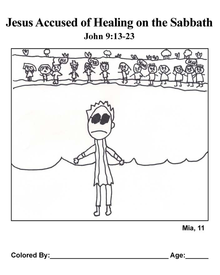 Coloring Page: Breaking Religious Rules