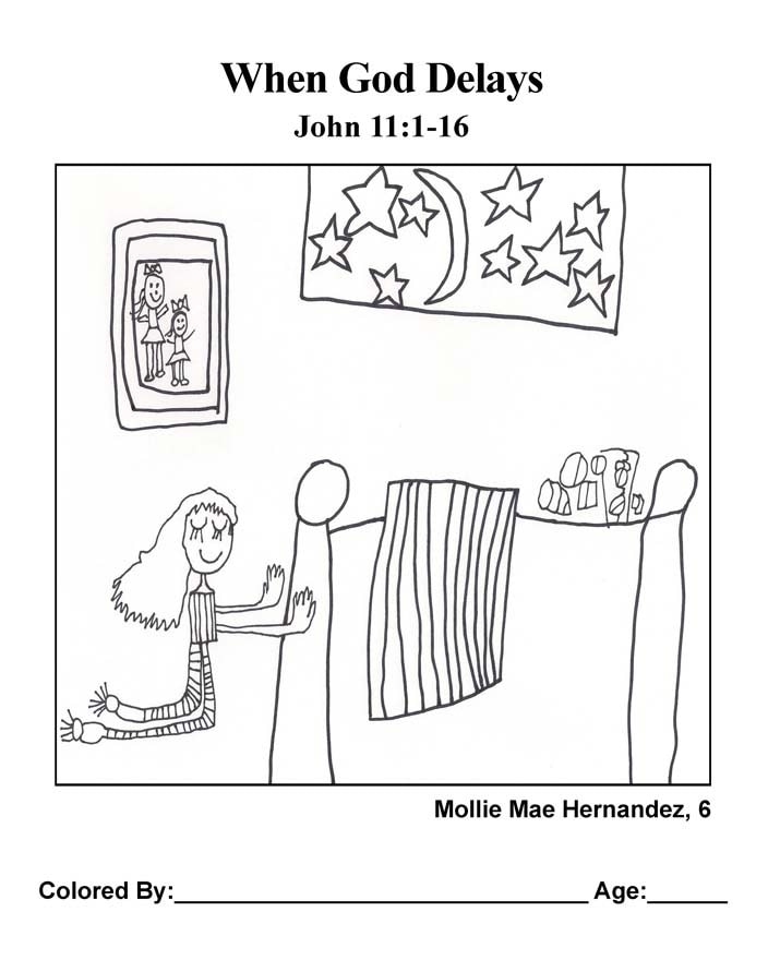 Coloring Page: When God Delays