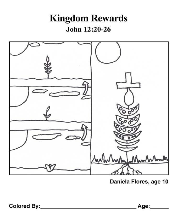 Bible coloring page: Kingdom Rewards
