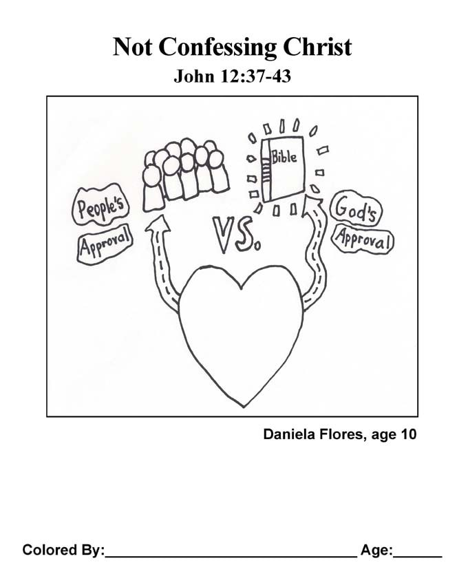Bible coloring page: Not Confessing Christ