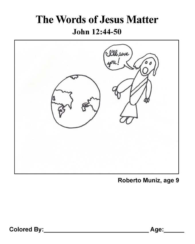 Bible coloring page: Jesus Saves!