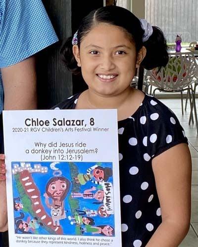RGV Children's Arts Festivals Winners K-3 Winner in 2020-21: Chloe Salazar, age 8