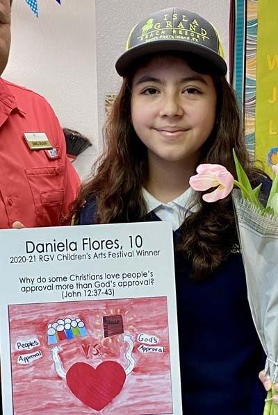 Winner of the 4th-6th grade division in 2020-21: Daniela Flores, age 10 RGV Children's Arts Festivals Winners